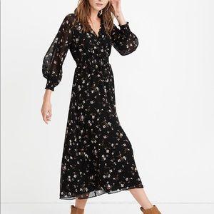 Georgette Smocked Midi Dress